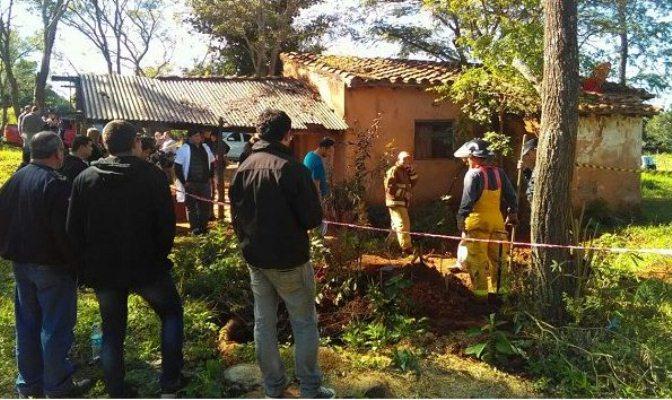 Examinarán fosas en Yaguarón en busca de más cuerpos