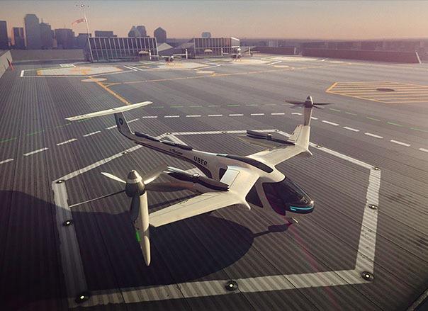 Uber y la Nasa se unen para presentar el primer prototipo de taxi volador