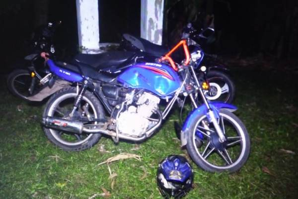 Accidente en moto deja una persona fallecida