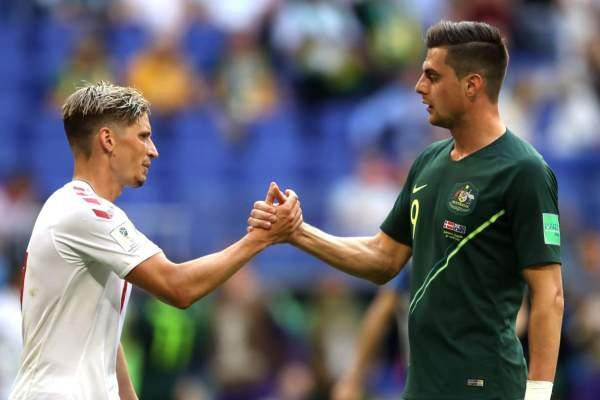 Australia se recupera e iguala 1-1 con Dinamarca