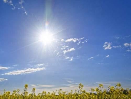 Soleado temperaturas en aumento