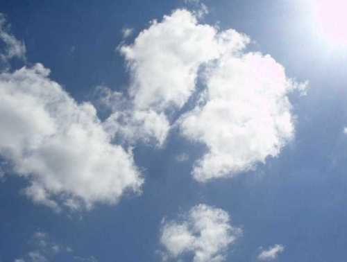 Intervalo sol nube tiempo clima