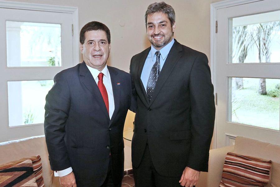 Horacio Cartes y Abdo Benítez