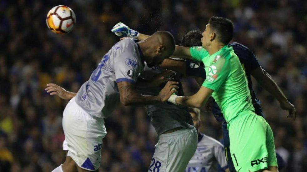 Eber Aquino arbitraje VAR Dedé Andrada Boca Cruzeiro Libertadores