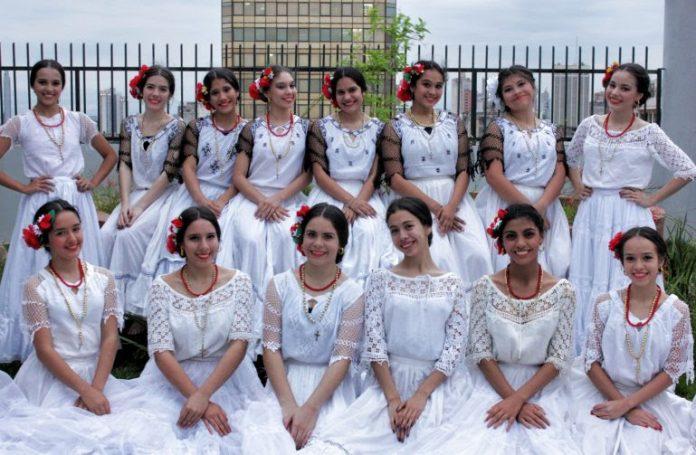 Fiesta de danzas paraguayas tradicionales