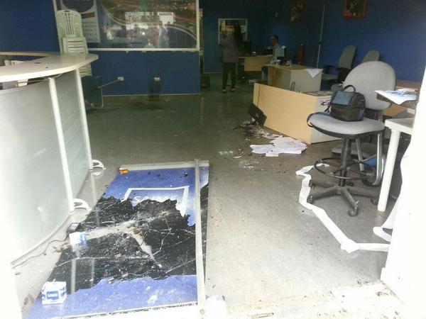 Supuestos hinchas de Luque causaron destrozos dentro del Club Auriazul