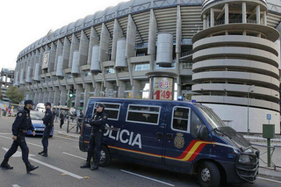 Policía España Madrid Estadio Santiago Bernabéu Real MAdriz