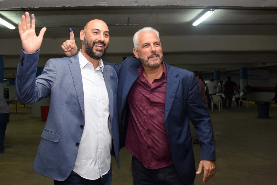 Raúl Zapag presidente de Cerro Porteño acompañado de Juan José Zapag @CCP1912oficial