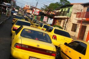 Taxi taxistas enjambre amarillo