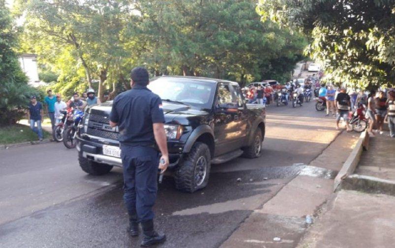 camioneta de Pedro Giménez, alías Pedrinho, sobrino de Jarvis Chimenes Pavão