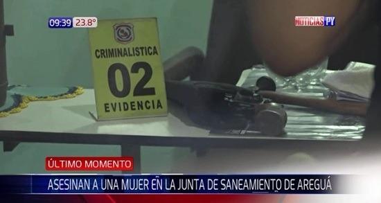 Con disparos asesinan a una mujer en Areguá
