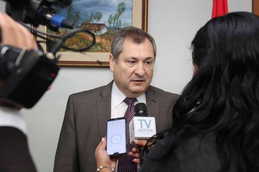 El ministro Eugenio Jiménez Rolón PODER JUDICIAL