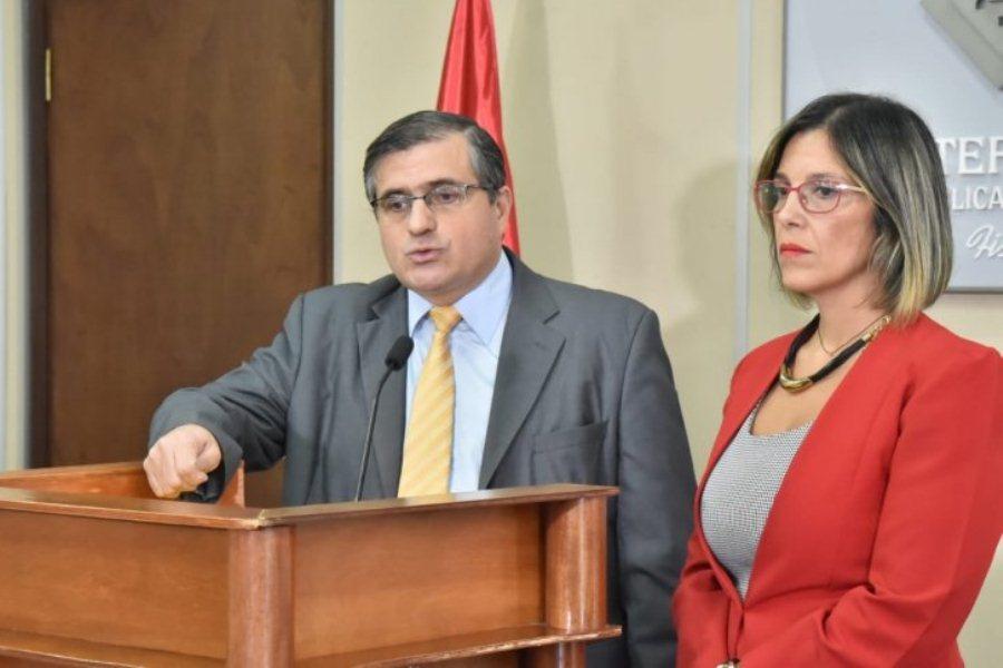 Los fiscales René Fernández y Josefina Aghemo explicaron la nueva imputación a Javier Zacarias Irún ÚH