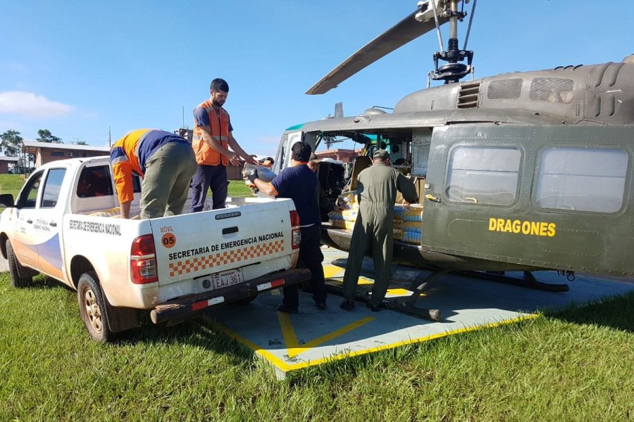 víveres helicóptero sen ayuda paso barreto lluvias