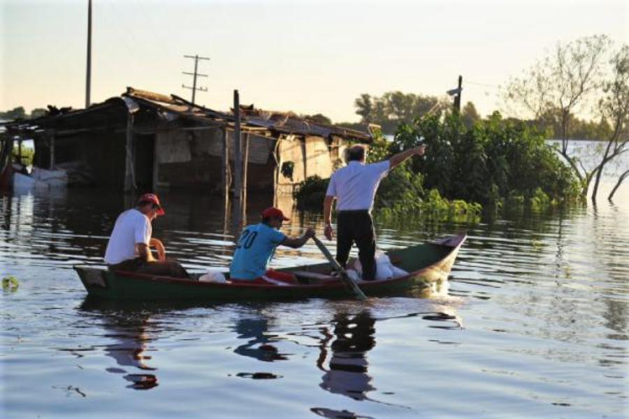 damnificados crecida rio paraguay SEN
