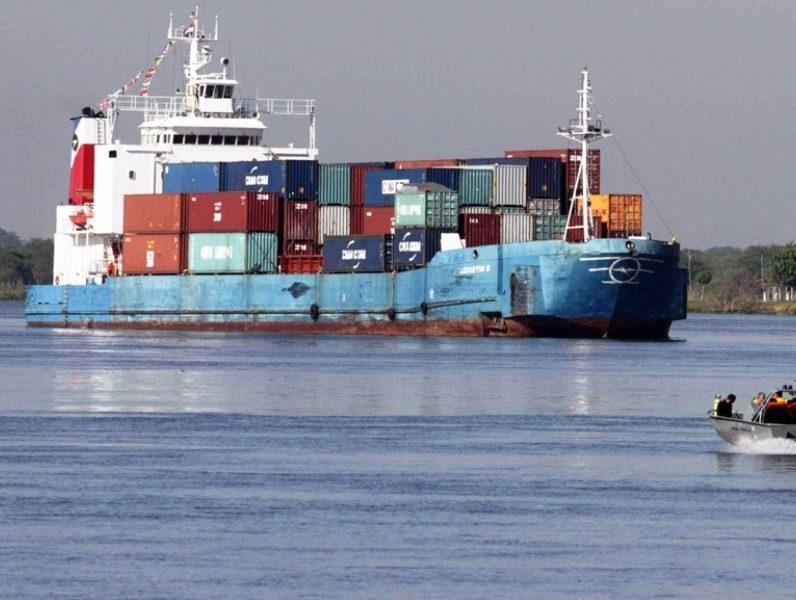 navegación hidrovia puerto contenedores aduana IP
