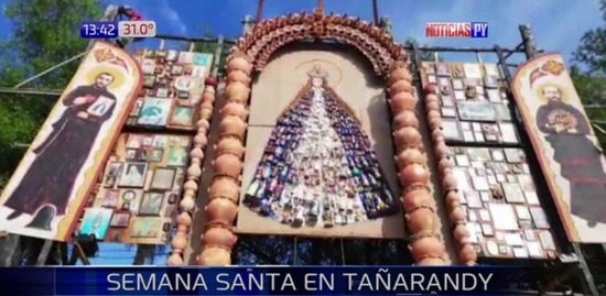 Resalta la imagen de la Virgen de Caacupé, en el retablo de Tañarandy