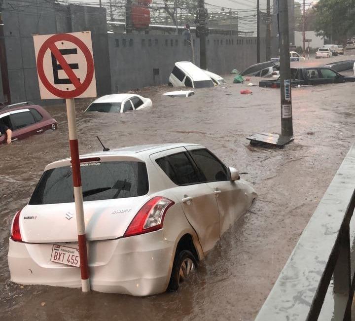 Diluvio en Asunción y Área Metropolitana
