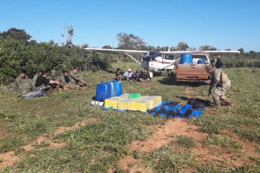 operativo espada Agentes de la Secretaria Nacional Antidrogas (Senad) y el Ministerio Público, realizaron la intervención de una pista clandestina, en San Pedro GENT
