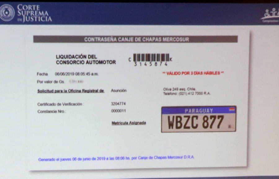 Chapa Mercosur PJ 02