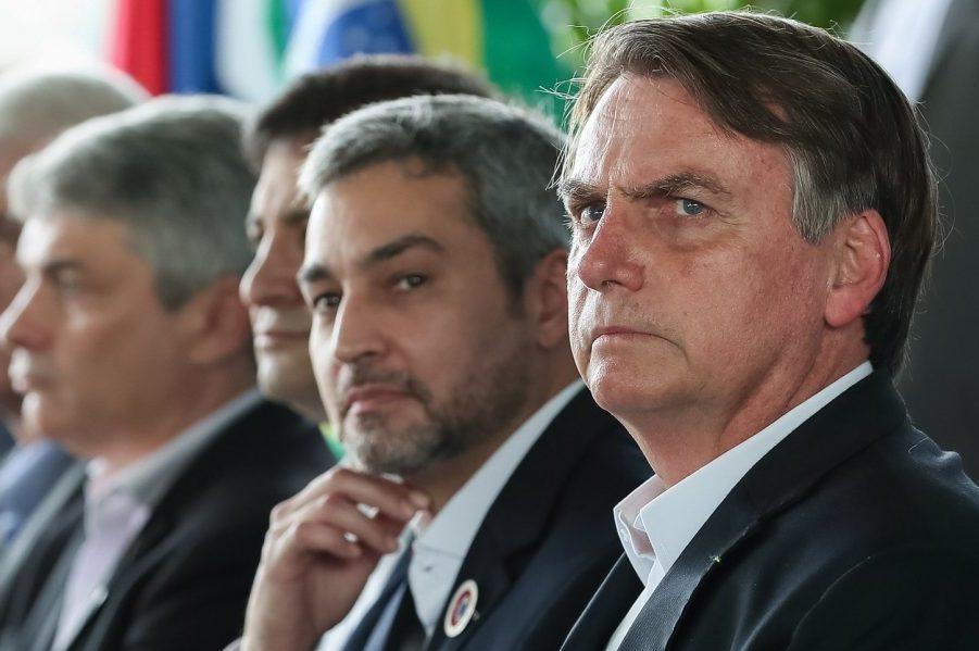 Lanzamiento puente Brasil-Paraguay Foz 10052019 Jair Bolsonaro Marcos Correa PR BR 02