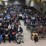 centenares de jovenes coparon la primera feria de empleo, en el Campus de San Lorenzo UH
