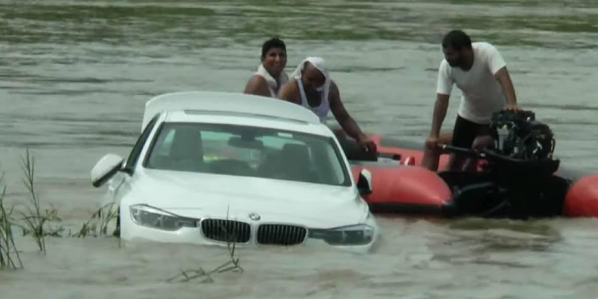 Tiró al agua el BMW que le regalaron sus padres por su cumpleaños porque quería un Jaguar