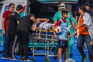 miguel samudio accidente cerro vs olimpia fecha 6 Clausura 2019 TW CERRO 00