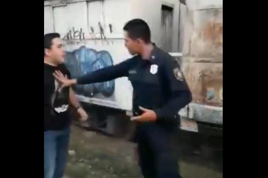 dirigente stiben patron y policia video