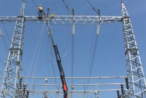 trabajos linea 500 kV energia electrica ANDE 01