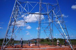 trabajos linea 500 kV energia electrica ANDE 02