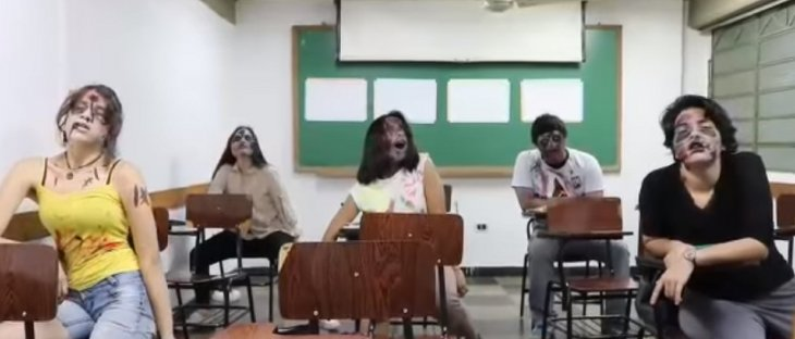Marcha zombie por la educación