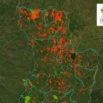 mapa de incendios GUYRA PARAGUAY