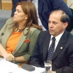 La abogada Sara Parquet y Bonifacio Rios Avalos durante el juicio politico de 2003 Archivo UH