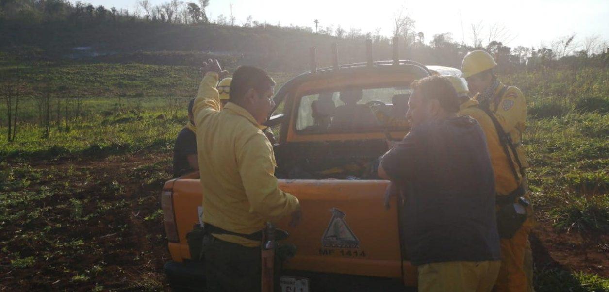 bomberos caazapa narcotraficantes tiros disparos incendio forestal FB K141 1ra Compañía Caazapá CBVP