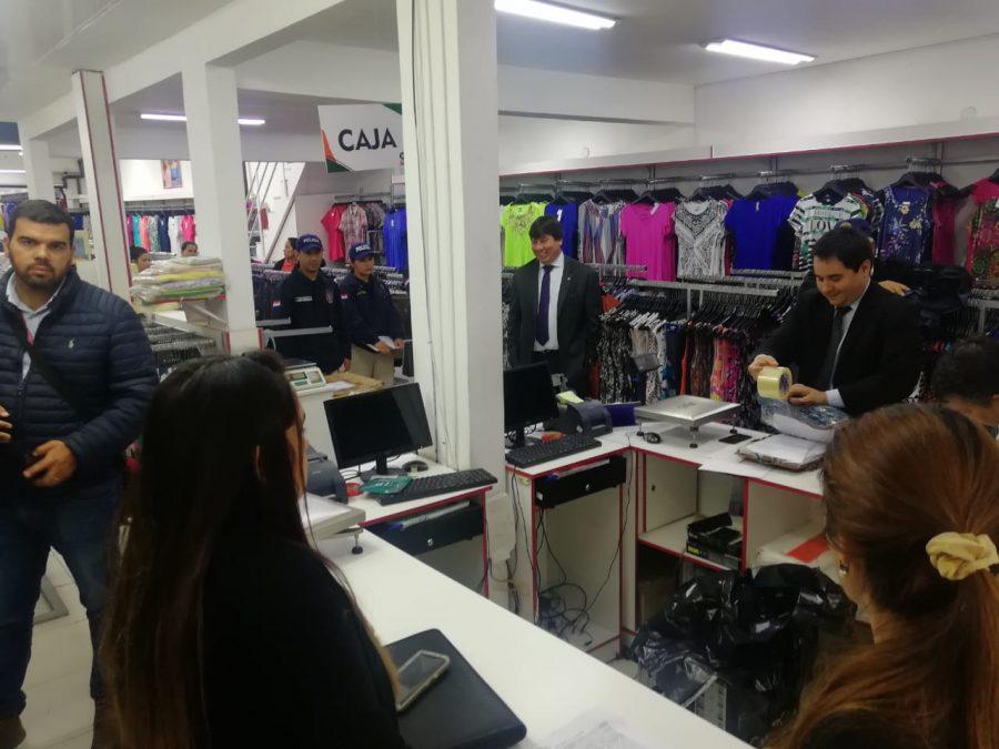 operativo balanza ropas marcas falsificacion contrabando prendas de vestir FISCALIA PRENSA
