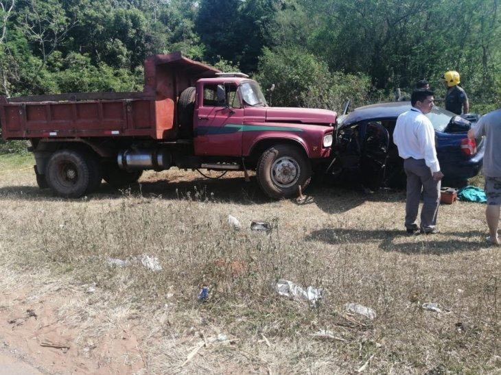 vehiculos Javier Yegros juveniles del Olimpia accidente de transito Ita, Departamento Central Hospital de Itaugua