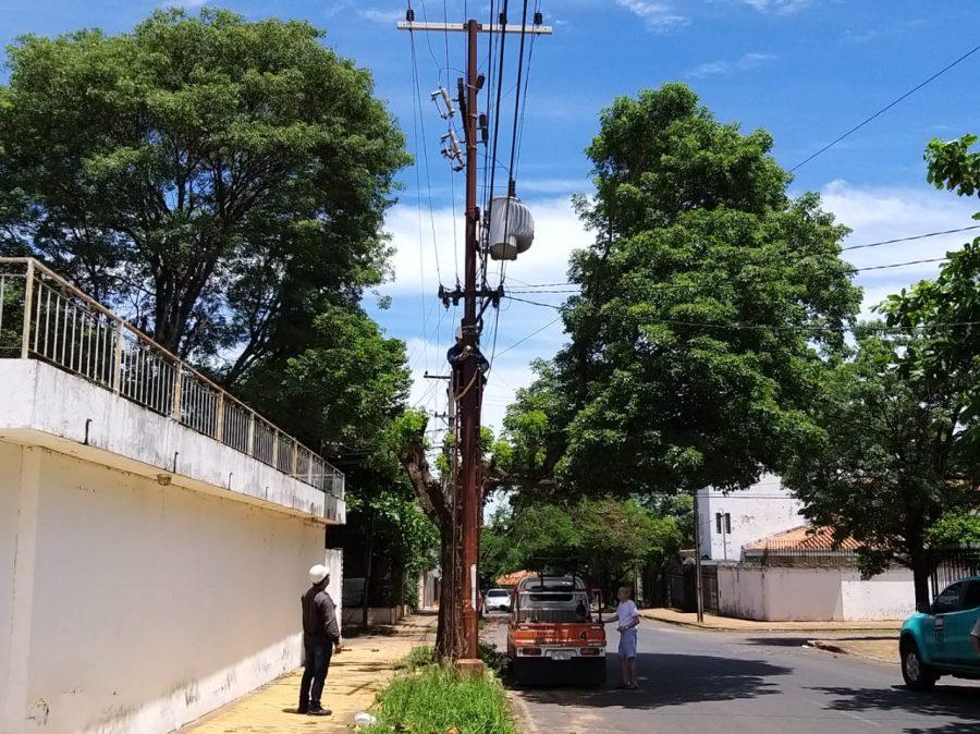 alimentadores cableado linea de transmision energia ANDE TW 02
