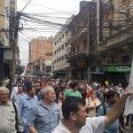 huelga de funcionarios de Hacienda y la SET Foto FB Sindicato de Funcionarios Profesionales del Ministerio de Hacienda