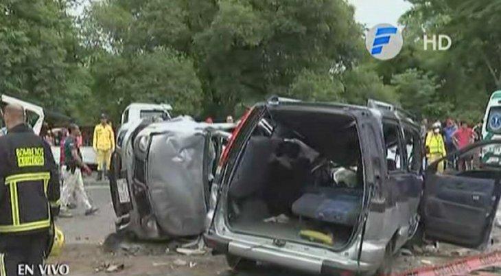 Cuatro fallecidos deja accidente sobre la ruta Transchaco