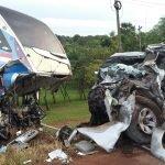accidente dos fallecidos en Coronel Oviedo febrero 2018 Archivo UH