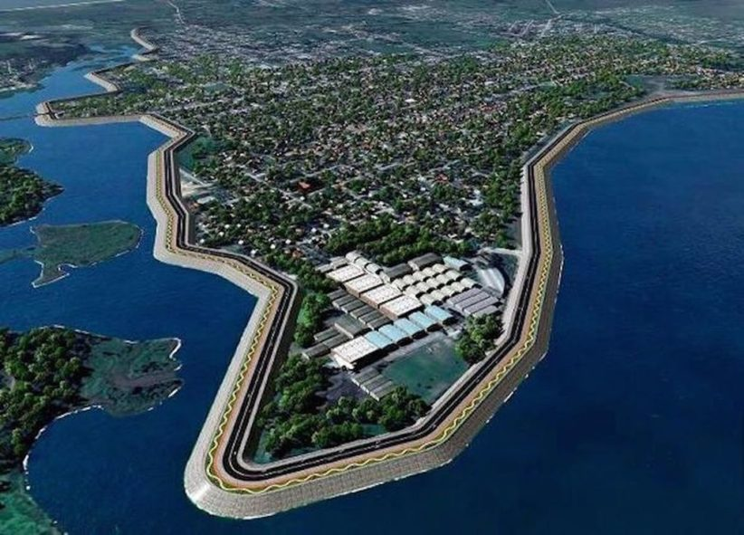 Asueto en Pilar por la firma de contrato para la obra de defensa costera