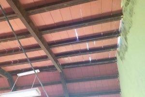 condicion del techo de una institucion educativa del departamento Alto Paraná FB OTEP-A