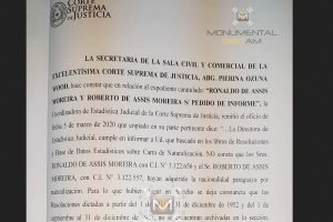documento corte suprema de justicia ronaldinho