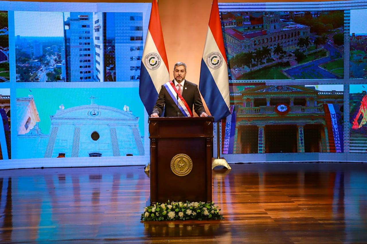 Mario Abdo Benítez presentó su segundo informe de gestión