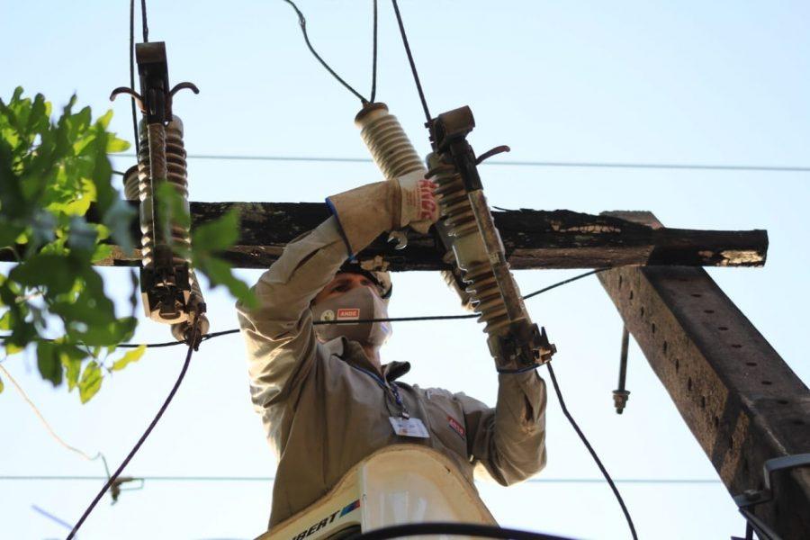 ANDE cableados desnudos mejoramiento y refuerzo de su sistema de distribución del Área Metropolitana