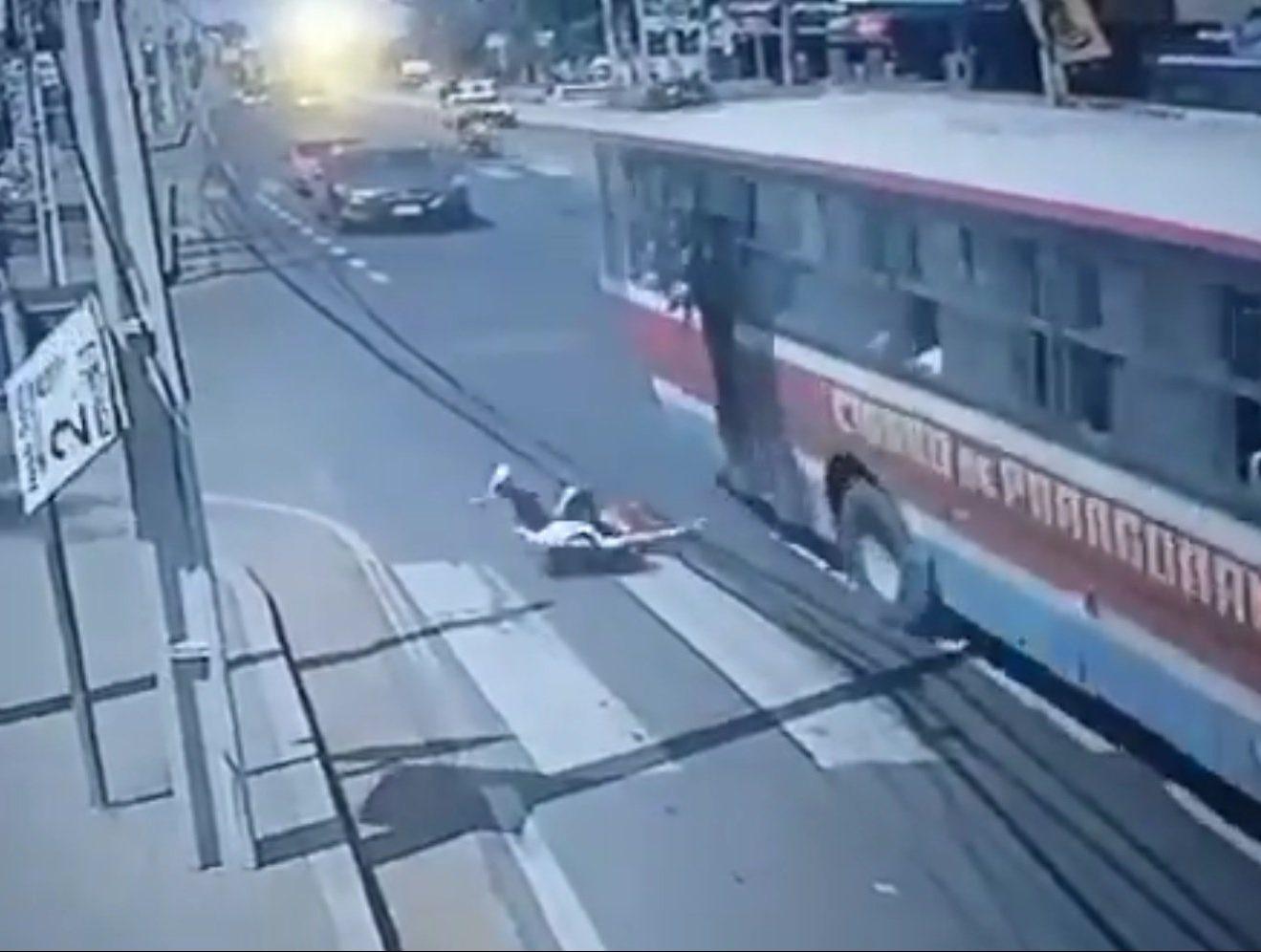 pasajera accidente