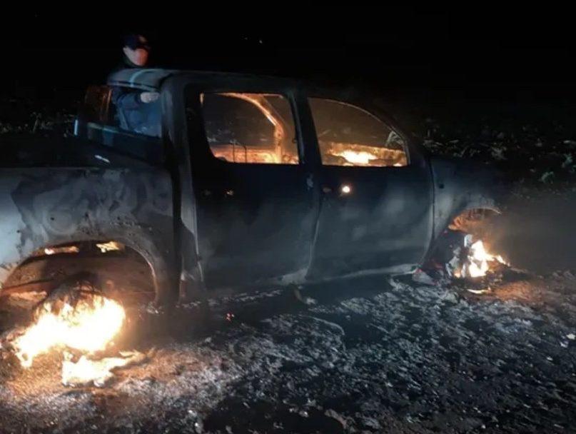 camioneta incendiada crimen pjc bebeto